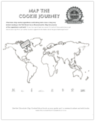 map the chocolate chip cookie ingredients