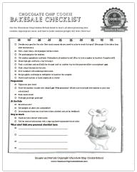 cookie bakesale checklist printable
